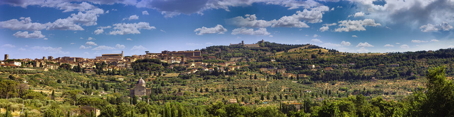 Panorama of ancient Italian city, Cortona