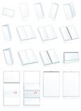Print-press paper binding. Leaflets, booklets, calendars poster