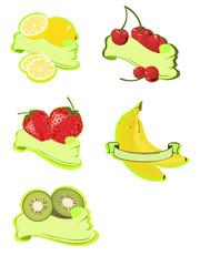 Früchte mit Banner