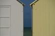 cabines de plage face à la Manche
