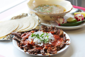 Birria Plate - Mexican Cuisine - Goat & Lamb meat