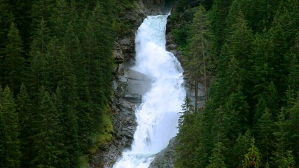 Wasserfall Krimml aus der Entfernung 2