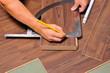 Leinwanddruck Bild - Laminat einbauen