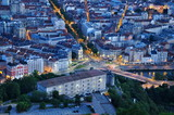 grenoble, boulevard gambetta, vue de la bastille poster