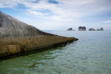 pig island at belitung indonesia