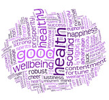 good health and wellbeing tag cloud poster