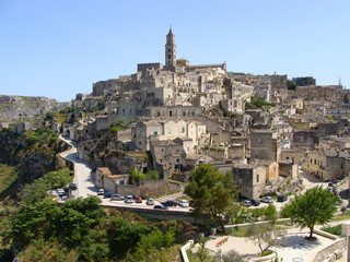Panoramic view of Matera, Italy