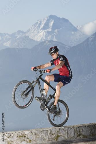 Deurstickers Mountainbike Wheely