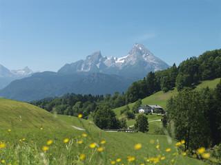 Bayern, Oberbayern, Maria Gern, Watzmann