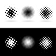 Black and white round spots