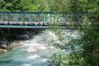 Ponte su torrente di montagna