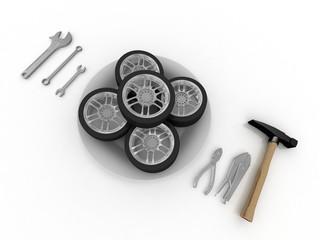 service and repair wheels