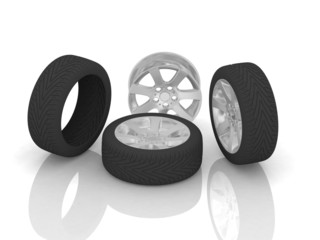 Disk and tires