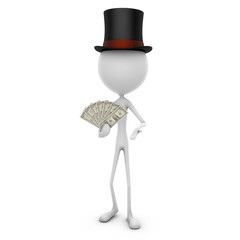Mr. Emotion V47.2e Money Magic DOLLAR white