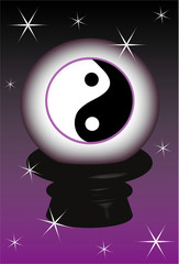 3D, object Yin yang symbol, background, vector