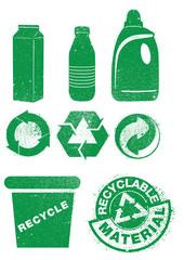 bouteilles plastiques recyclables