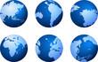 blue globe icons