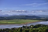 Arnside Viaduct and the Lake District Fells poster