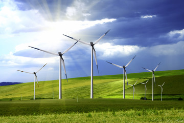 Power generating windmills