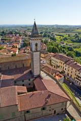 Vista di Vinci in Toscana