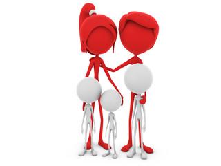 Mr. and Ms. Emotion V6.1f Family Parents REDwhite