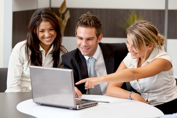 Business group with laptop