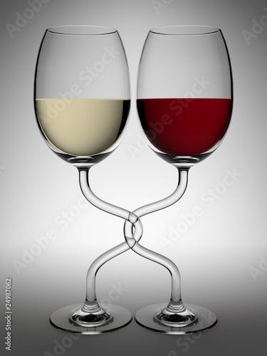 verres de vin rouge et blanc 2 photo libre de droits sur la banque d 39 images. Black Bedroom Furniture Sets. Home Design Ideas