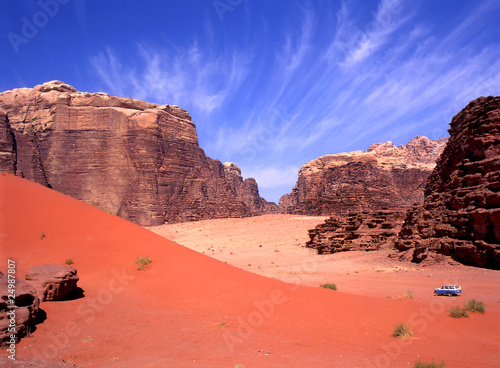 Four wheel drive in Wadi Rum