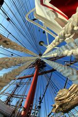 ropes and masts
