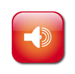 Red sound button vector