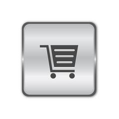Shop chrome button vector