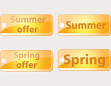 spring offer summer offer button