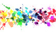 canvas print picture - Rainbow of watercolor paint