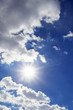 Sonne am Himmel | Wolken und Sonnenstrahlen