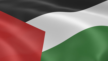 Palestinian flag in the wind