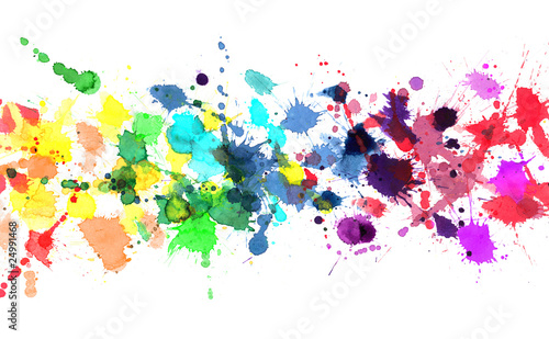 canvas print picture Rainbow of watercolor paint