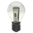 Dollar money in light bulb