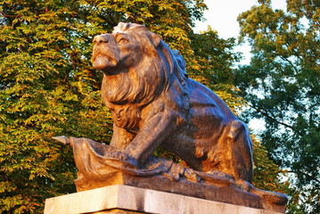 Monument of lion in Graz