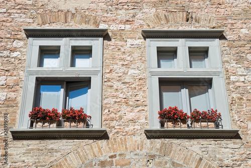 Two window. Spello. Umbria.