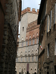 Siena - the facade of the Palazzo Chigi-Saracini