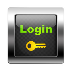 Metal Button Login