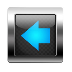 Metal Button Left Arrow