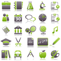 school Green Icons