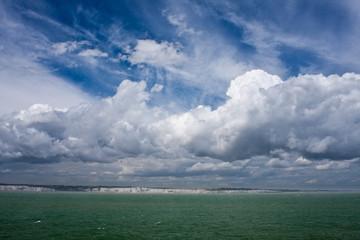 Kreide felsen an der Küste von Dover