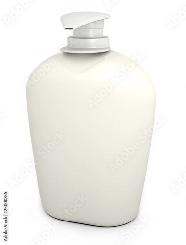 Blank liquid soap bottle on white