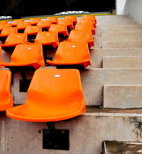 orange seat in stadium