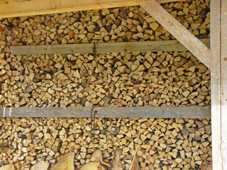 Holzscheite zum verheizen