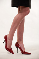 Attractive thirties caucasian woman legs