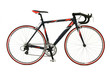 Speed racing bicycle over white background