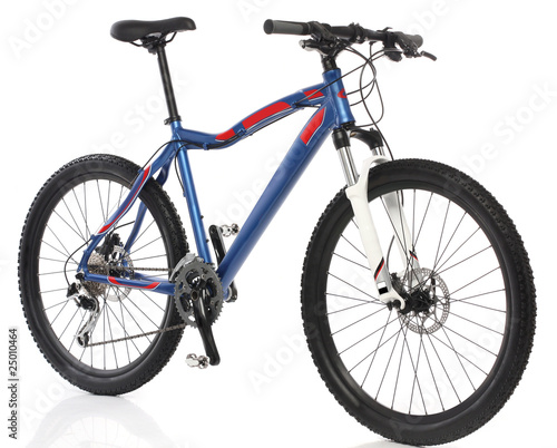 Mountain Bicycle over white background